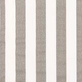 Storm Gray & White Striped Duck Cloth Fabric